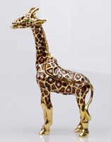 Giraffe Crystals Jewellery Jewelry Trinket Box Standing Giraffe Keepsake Box