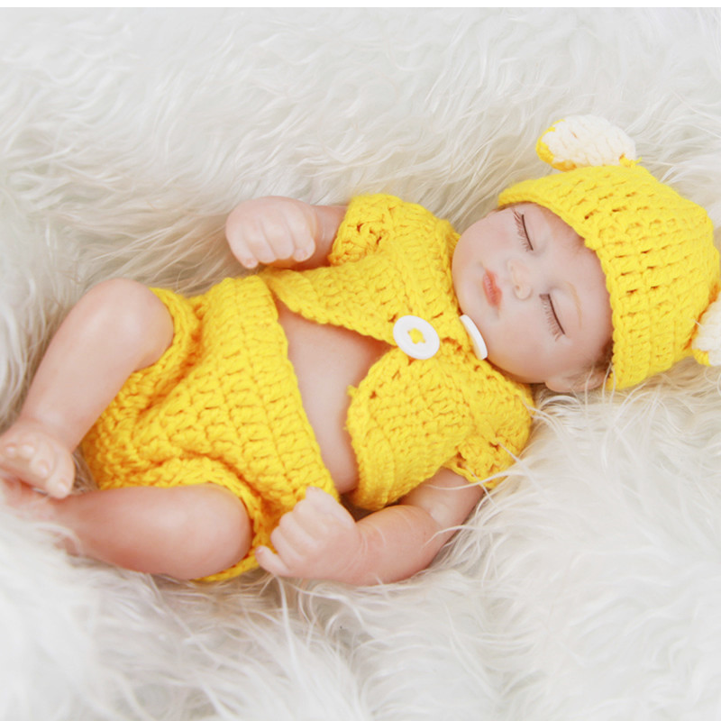 NPKDOLL 11inch 27cm Reborn Doll bebe Reborn De Full Silicone Bonecas Baby Alive Boneca Para Meninas Baby Alive Da For Children trona de bebe silla de madera para ninos cinturon de seguridad 3 colores bb4506