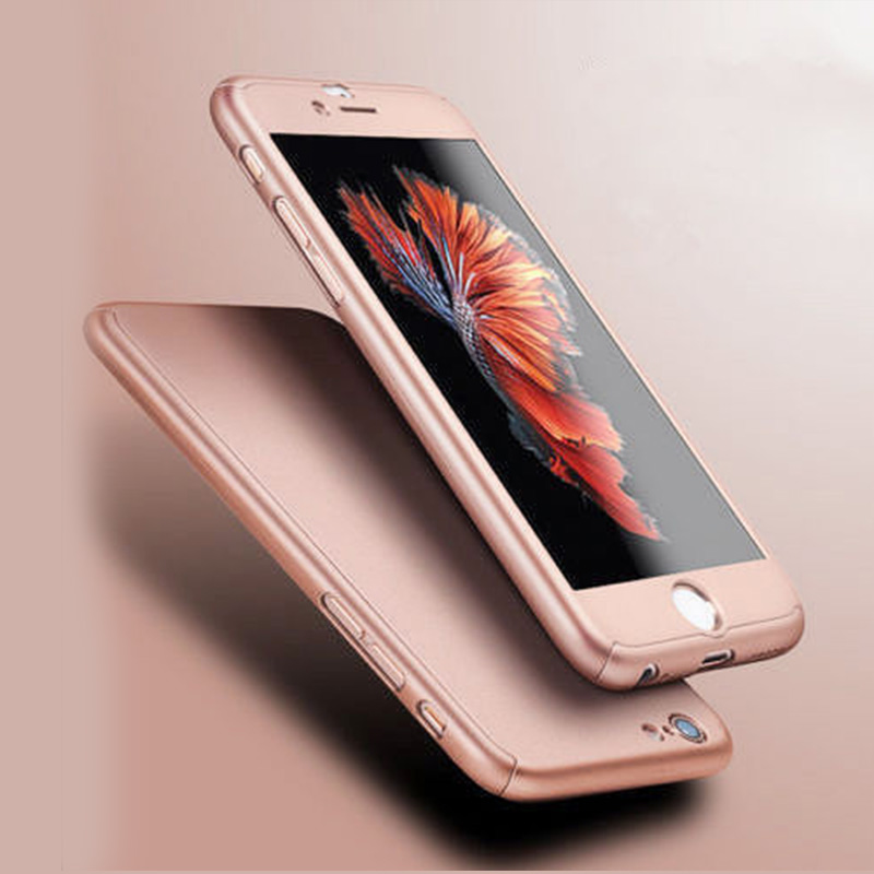 9a1170b0e Hybrid PC Hard Dropproof Metal Feeling Case 360 Full Body Cover+Tempered  Glass For Capinhas Iphone 8 ...