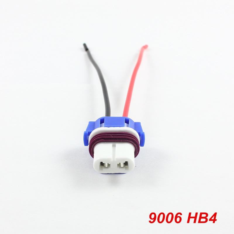 2pcs hb4 9006 HB3 9005 bulb socket led lamp base adapters car connector extension cable 9006 9005 HB3ceramic plug adapter