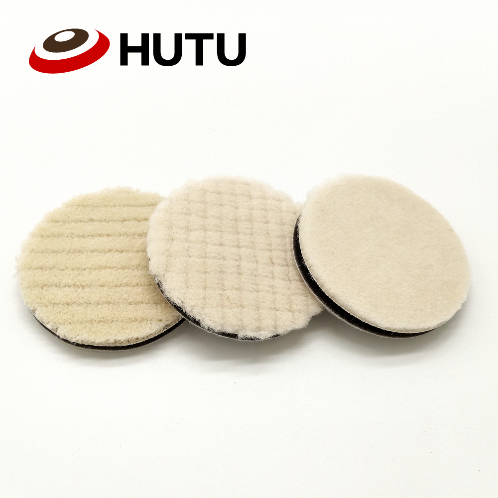 Japan Wool Polish Pad 3 Inich 80mm Professional Detailing Pad For Car Polisher