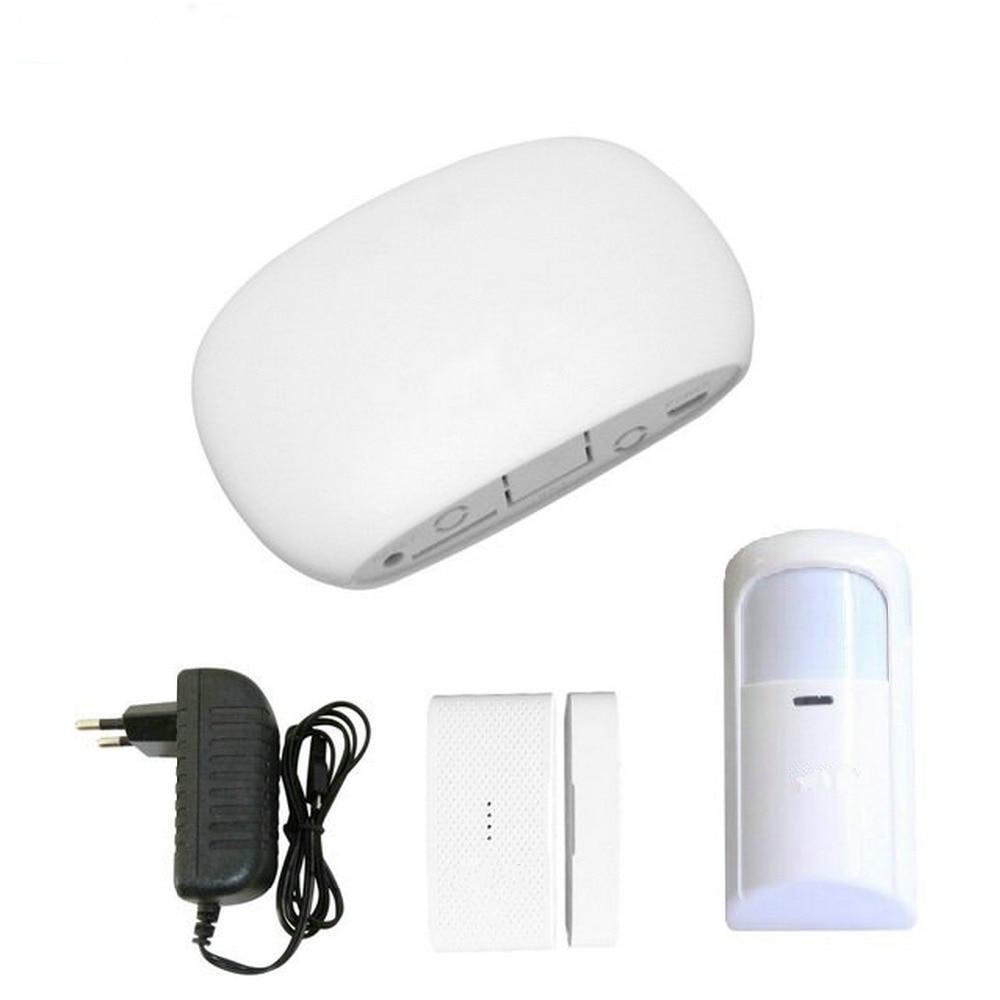 Super Mini WIFI Home Security Alarm System DIY Kit IOSAndroid Smart Phone App PIR Main Panel DoorWindow Sensor Burglar Alarm_1