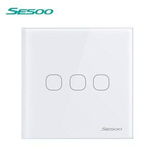 Image 4 - SESOO אלחוטי שלט רחוק מגע מתג עבור RF433 חכם וול אור מתג מזג זכוכית פנל