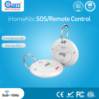 NEO Coolcam IHome Kits NAS RC01T Wireless Alarm System SOS Remote Control For Home Security