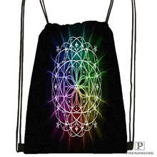 Custom magnificent_mandala_ Drawstring Backpack Bag Cute Daypack Kids Satchel (Black Back) 31x40cm#180612-02-26
