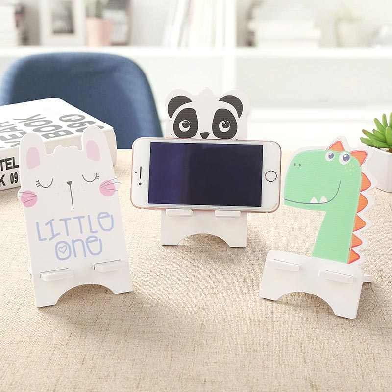 Universal mobile phone holder desktop stand universal desktop tablet mobile phone holder shockproof wooden mobile phone holder