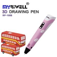 3d pen Myriwell 2 Generation LCD Display DIY 3D Printing Pen Arts 3D pens For Kids Drawing Tools high quality ABS PLA plastic недорого