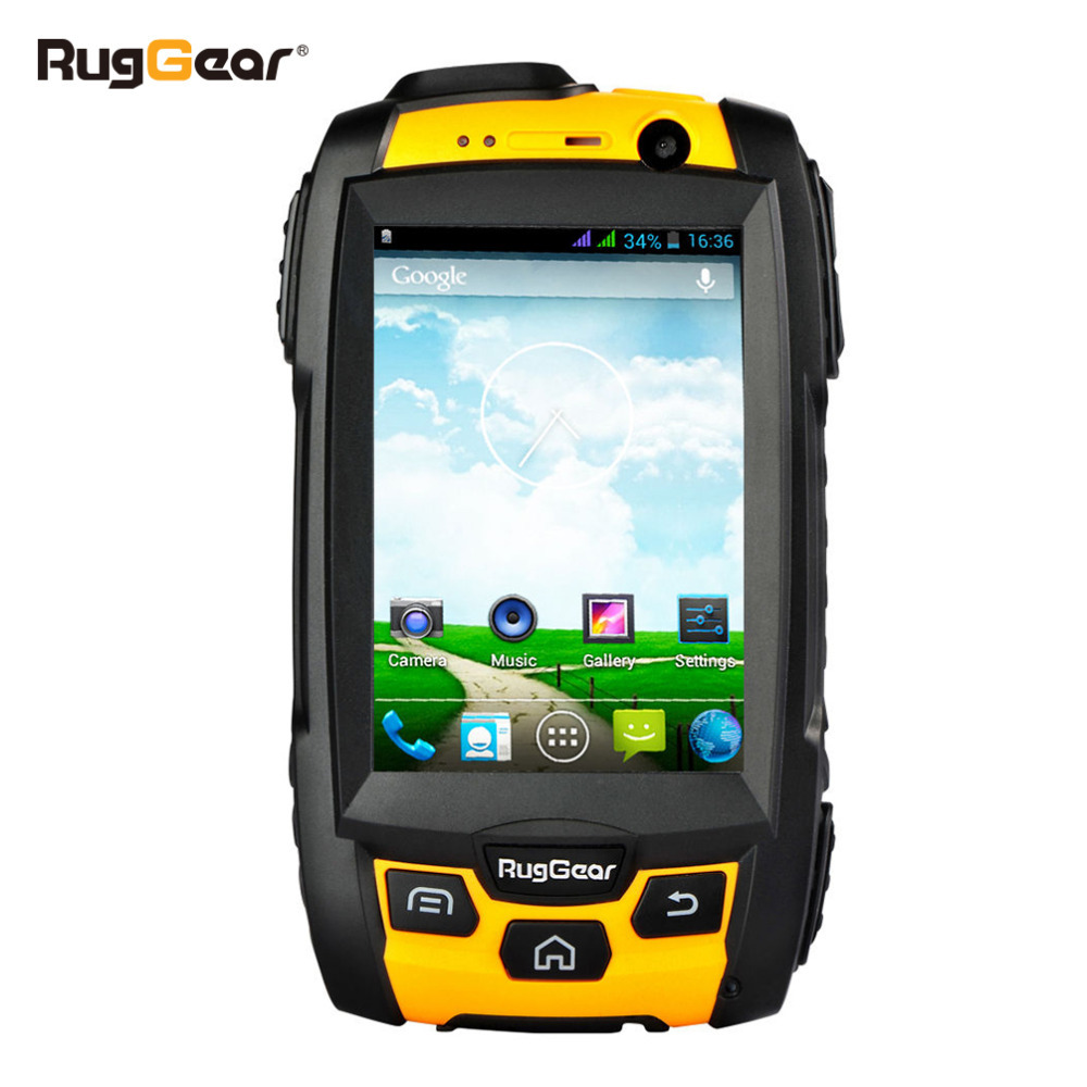 RugGear RG500 Desbloqueado robusto telefone à prova d' água Inteligente Amarelo
