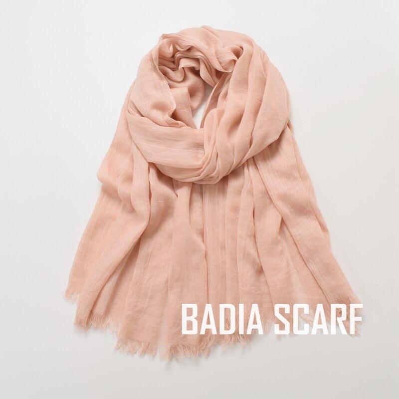 Image 5 - One piece high quality women muslim plain frayed scarf hijab  shawls wraps headwear crinkle solid oversize pashmina hijabsWomens  Scarves