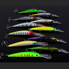 11 pcs 2 type Sea Bass Fishing Tackle Wobblers Minnow Hard Bait Saltwater Lures ABS Plastic Isca Artificial Pesca