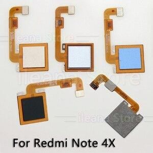 Image 5 - Cabo flexível traseiro botão de início original, sensor de impressão digital, para xiaomi redmi note 4 4x global pro, peças de reparo de telefone