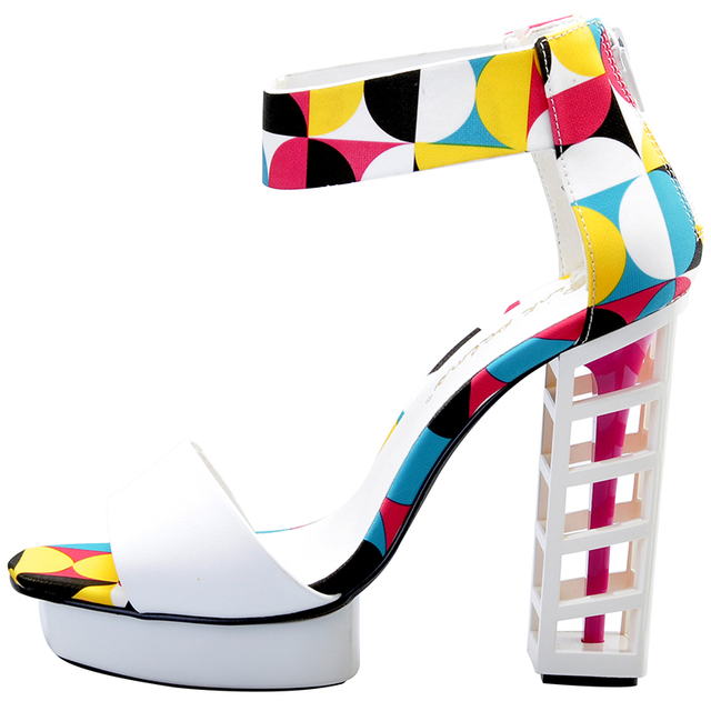 Pink Palms women summer shoes ladies metallic platform shoes sexy high heel sandals party women platform sandals