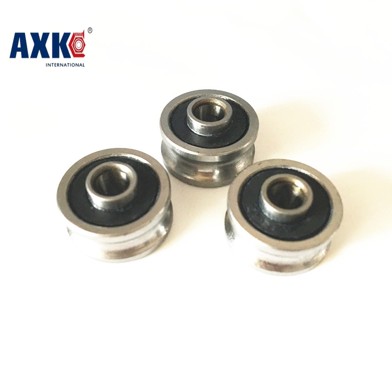 SG15-2RS U Groove pulley ball bearings 5*17*8*9.75 mm Track guide roller bearing SG15RS V17 1 piece bu3328 6 6 33 27 5 29 5 mm z25 guide rail u groove plastic roller embedded dual bearing