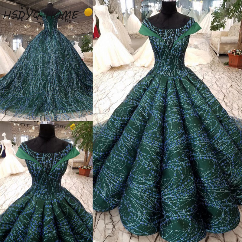 Amazing Lace   Evening   Prom   dresses   Flower New Design Ball gown Vestidos Elegant   Evening     dress   Party Gown