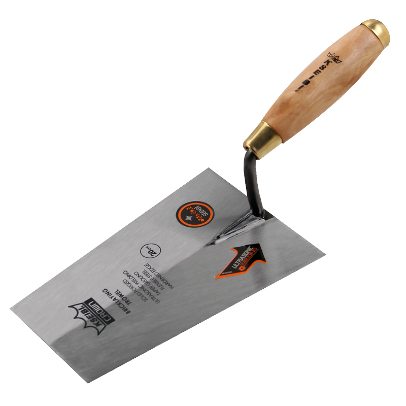 KSEIBI 200mm Gauging Trowel Square Edged Tip With Wood Handle For Hand Tools Industrial Grade Bricklaying Trowel #281380