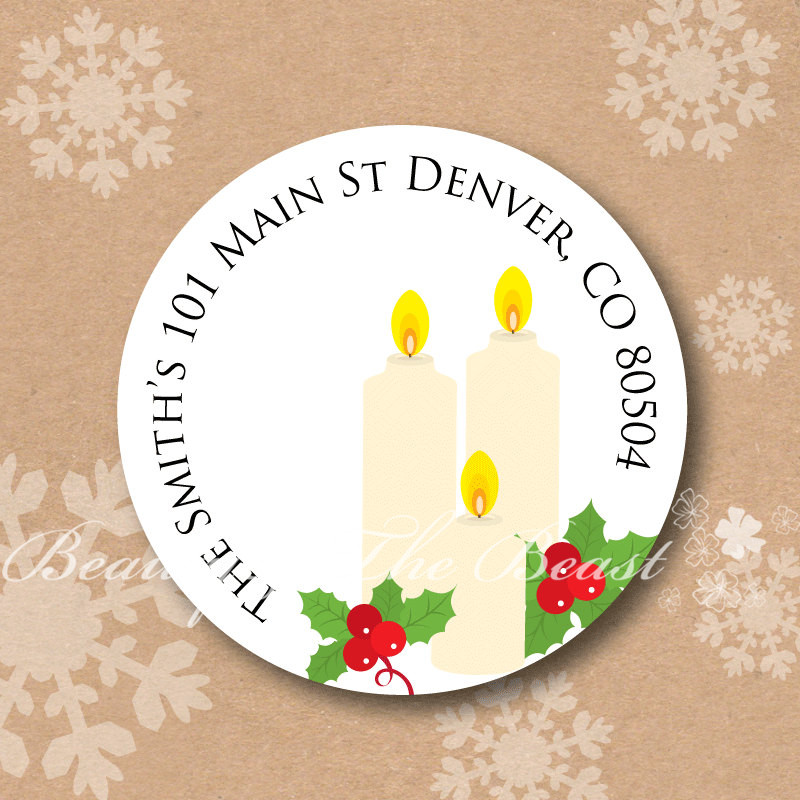 Christmas Labels.Us 9 82 18 Off Personalized Merry Christmas Stickers Candle Christmas Tags Gift Labels For Christmas Cupcake Toppers Christmas Decorations In Party