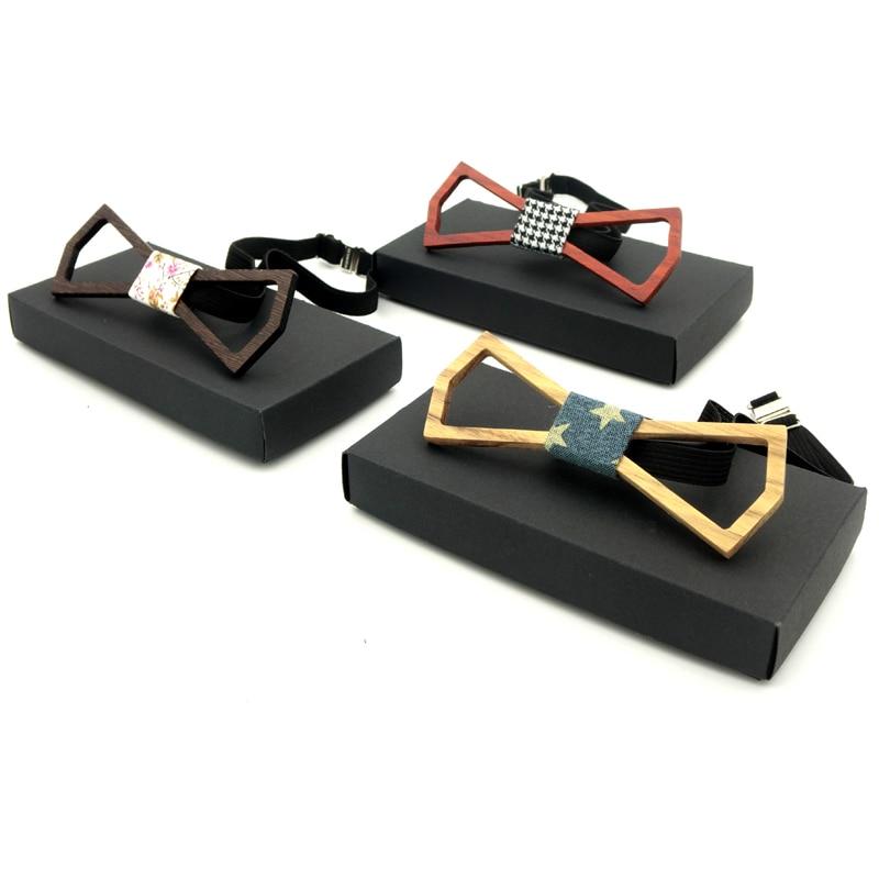 Ricnais New Arrivel Herren Holzfliege Luxus Hohl Design Bowties - Bekleidungszubehör - Foto 6
