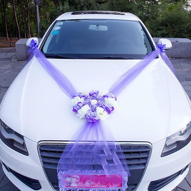 DIY Artificial Flowers Wedding Car Decoration Flower Valentine's Day Fake Flowers Sets Wedding Wreath Party Decoration Flower 1