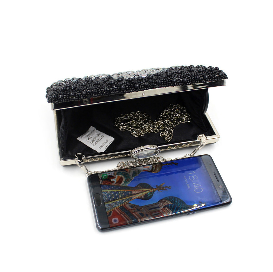 38929be3f066c Milisente Women Black Clutch Wedding Bags Female Vintage Clutches Ladies  Beaded Pearl Evening Bags Party Purses -in Clutches from Luggage & Bags on  ...
