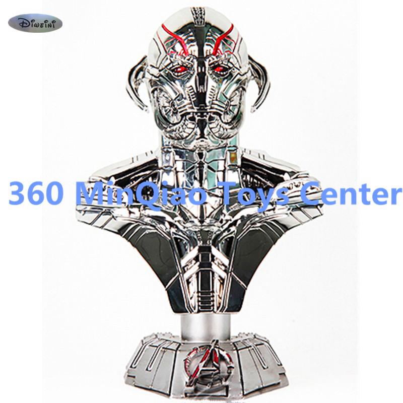 Marvel Statue Avengers: Age of Ultron Bust 1:2 Half-Length Photo Or Portrait Model Hand-Made Decoration Can Be Light WU848 avengers captain america 3 civil war black panther 1 2 resin bust model panther statue panther half length photo or portrait