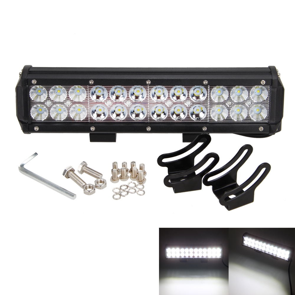 12inch 4x4 Combo Beam 72W 4X4 LED Car Driving Lights Wiring Kit 5040LM Offroad Led Lamp bar Work light BAR logitech logitech m150 черный