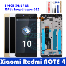 For Redmi Note 4 LCD Display + Frame For Xiaomi Redmi Note4 Global Version Snapdragon 625 LCD Display Digitizer Spare Parts