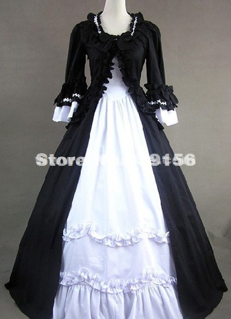 Custom Black Short Sleeves Gothic Victorian Carnivale Gown Retro 17th 18th  Century Civil War Southern Belle Ball Gowns Dresses 2105ce2ea289