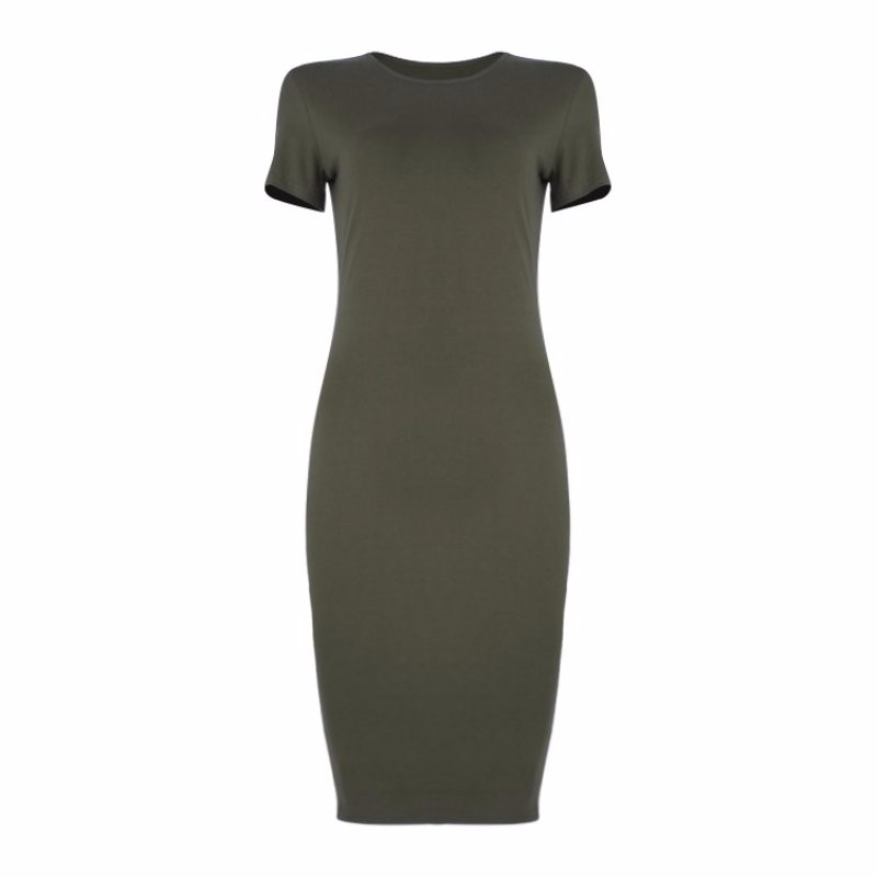 1pcs Womens Dress Vestido Short Sleeve Slim Bodycon Dress Tunic Crew Neck Casual Pencil Dress New Arrival