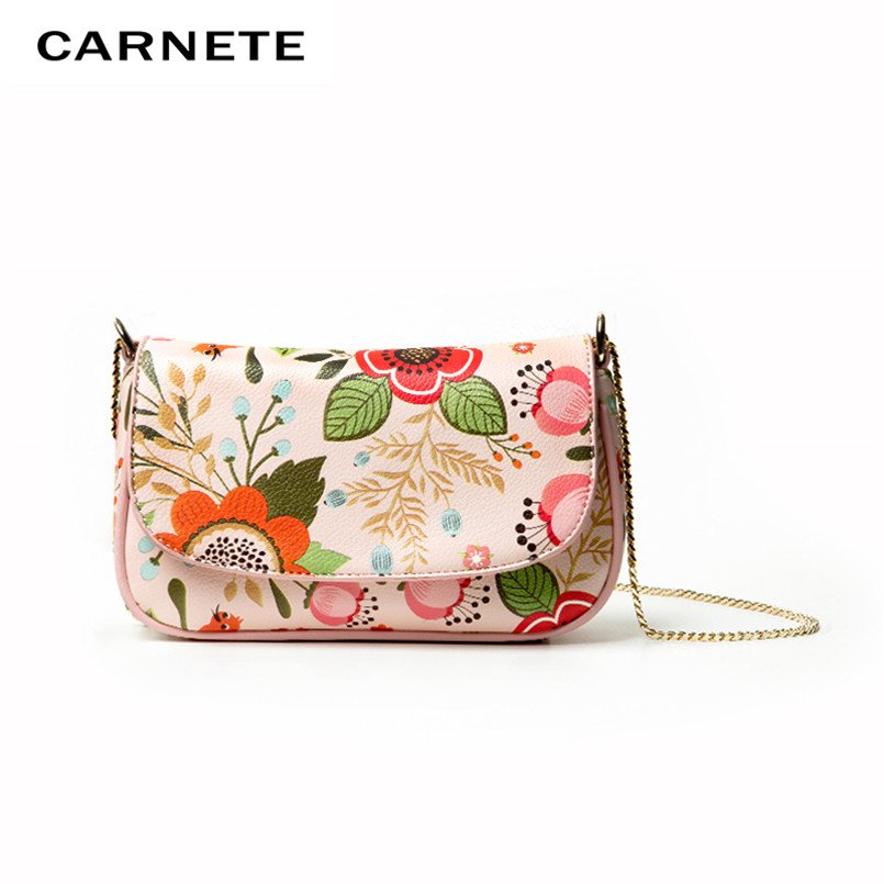 CARNETE Crossbody Bags For Women 2019 Summer Colored Luxury Bags PU  Flower Shoulder Messenger Bags Chains Girl Women BagCARNETE Crossbody Bags For Women 2019 Summer Colored Luxury Bags PU  Flower Shoulder Messenger Bags Chains Girl Women Bag
