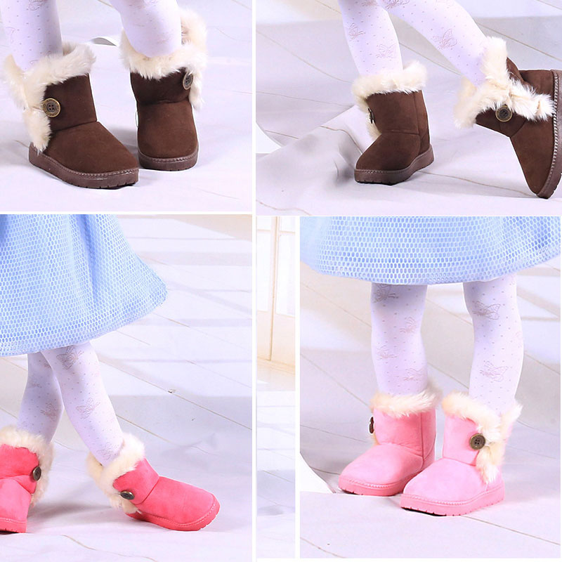 1 8 Years Winter Solid Baby Shoes 2017 Moccasins Baby Boy Girl Boots Botte D 39 hiver Pour Boots Bebe Fille Infant Outfits Booties in First Walkers from Mother amp Kids
