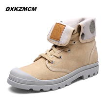 2016 Fashion Boots Men Canvas Shoes Ankle Boots Casual Design Shoes Winter Men boots