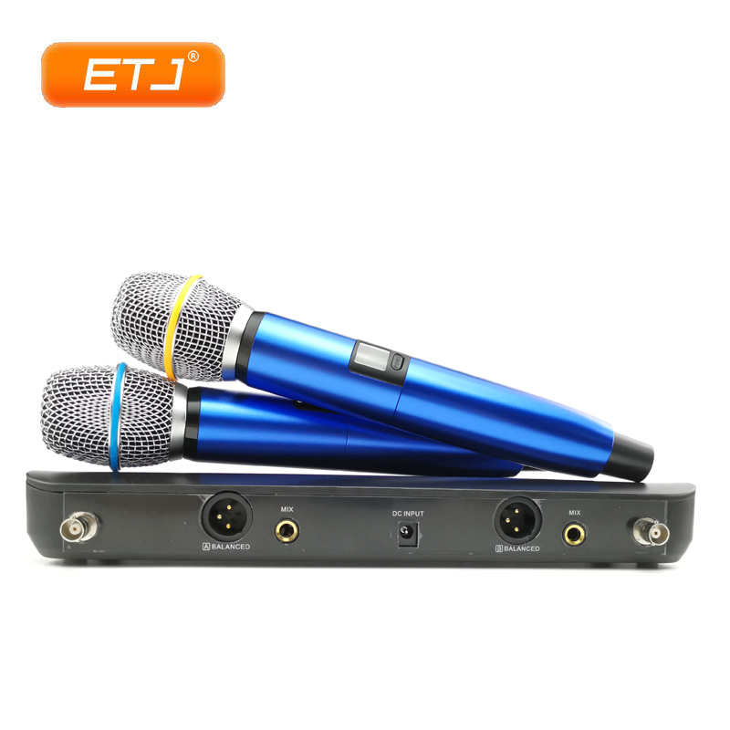 Colorful Microphone System Professional UHF Wireless Microphones 2 Channels Double TransmittersColorful Microphone System Professional UHF Wireless Microphones 2 Channels Double Transmitters