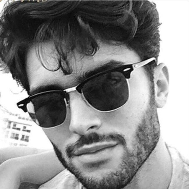 Raios Óculos De Sol Dos Homens Designer de Marca Popular quente Retro Mulheres Estilo Verão Óculos de Sol Rebite Quadro Revestimento Colorido Tons UV400