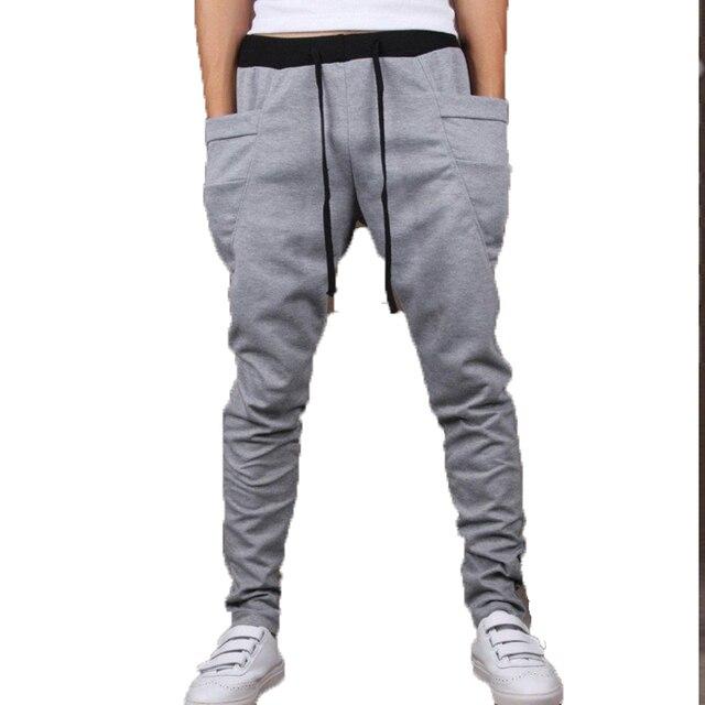 Mens Joggers 2016 Homme Men   Pants Mallas Hombre  Large pockets  Sweatpants Male Jogger Pantalones XXL