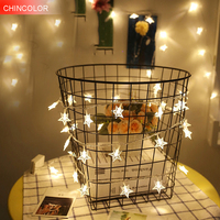10 40stars Led String Light 1M 5M Length Strip Battery Box Powered For Party Home Kid
