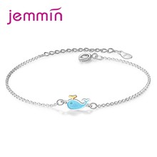 New Most Popular Dolphin Charm Bracelet With 925 Sterling Silver Chain Lobster Buckle For Women Lovly Gift(China)