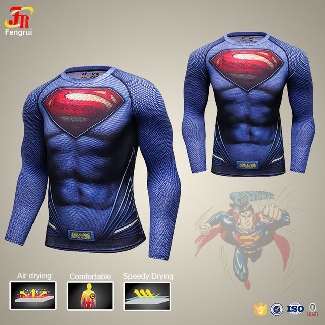 254a17142953b Cody Lundin Compression Long Sleeve T Shirt Marvel Superhero Deadpool Iron  Man 3d Printing Shirt for Male Running