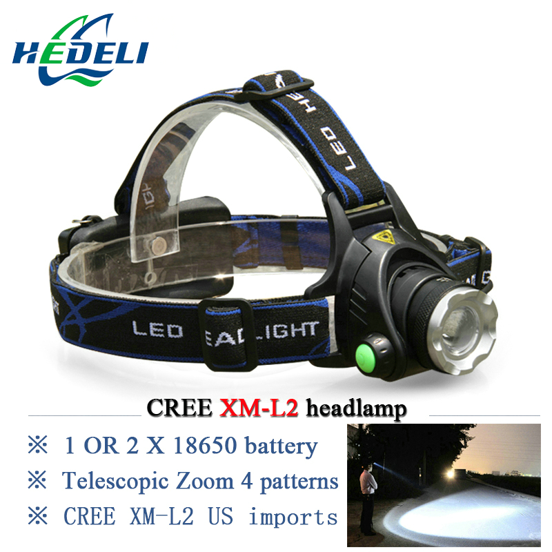 Waterproof Led Headlamp Cree Xm L2 Xml T6 Rechargeable