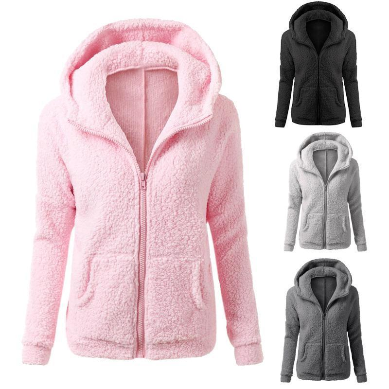 2018 New Women Winter Fleece   Jacket   Womens Thicken Warm Coat Female Windproof Polar Fleece   Basic     Jacket   Plus Size M-5XL 40