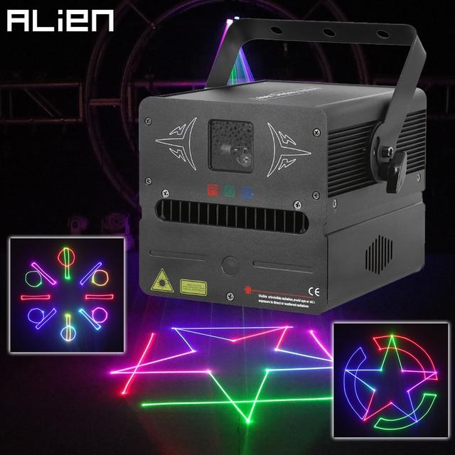 بطاقة SD للأجنبي 500mW RGB DMX للصور المتحركة عارض إضاءة ليزر للمسرح ديسكو DJ للحفلات والنوادي والحفلات الموسيقية تأثير احترافي