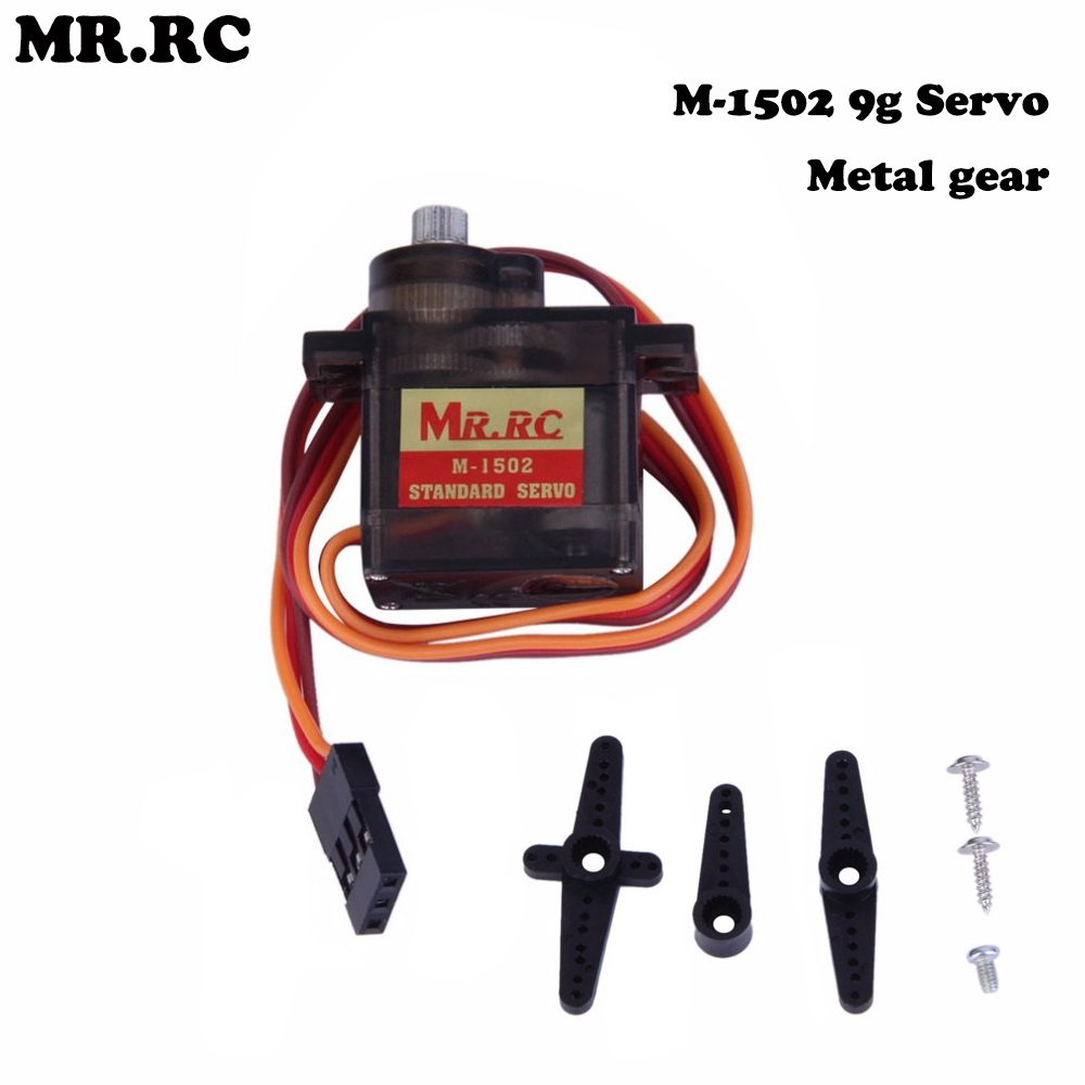 2Pcs MR.RC M-1502 9g Standard Servo Motor Metal Gear 4.8-6V Assembly Category for Racing ...