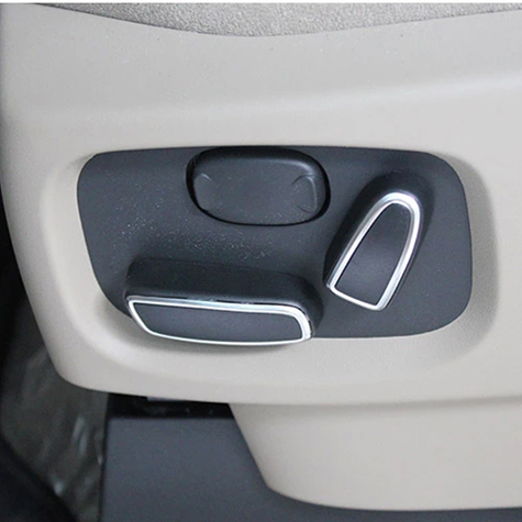 Chrome Seat Adjustment Switch Knob Cover Trim Seat button decoration For Land Rover Discovery 4 / Range Rover Sport / EVOQUE 12+