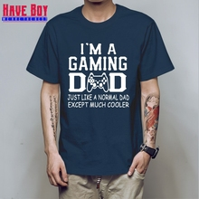4d3cc7b2 HAVE BOY Brand Clothing I'm a Gaming Dad Cooler Funny T Shirt Tshirt Men