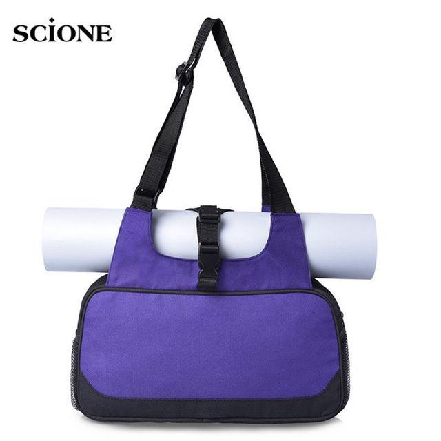 Yoga Gym Bag Canvas Mat Bags Training Shoulder Crossbody Sport For Women Fitness Travel