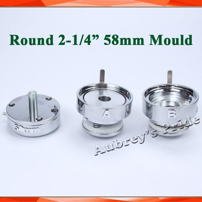 """La ronda 2 1/4 """"(58mm) intercambiables molde para nuevo Pro placa máquina fabricante-in Fabricante de moldes from Hogar y Mascotas    1"""