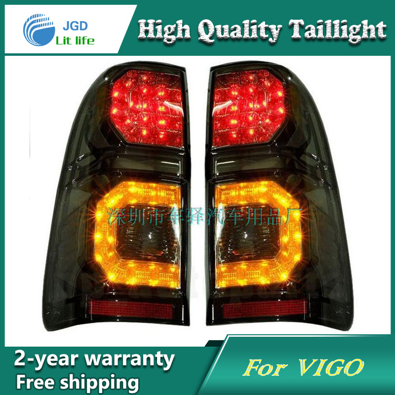 Car Styling Tail Lamp for Toyota Hilux Vigo Tail Lights LED Tail Light Rear Lamp LED DRL+Brake+Park+Signal Stop Lamp car styling tail lamp for toyota corolla led tail light 2014 2016 new altis led rear lamp led drl brake park signal stop lamp