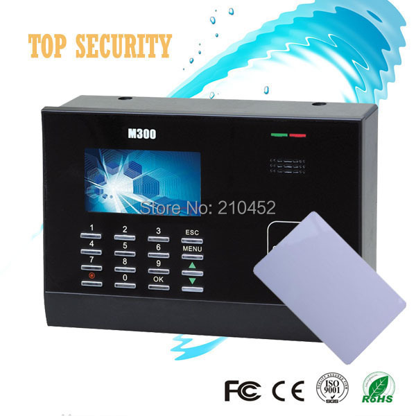 Hot sale Linux system TCP/IP Proximity Smart Card Reader 13.56MHZ IC Card Time And Attendance M300Plus biometric time attendance hot selling lcd color screen m200 card time attendance linux system rs232
