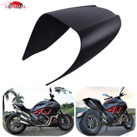 LJBKOALL Motorcycle Passenger Solo Seat Cover Cowl Pillion For Ducati Diavel 2011 2018 Matte Black