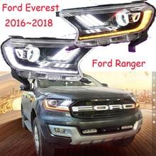 Видео, фара дальнего света, 2016 ~ 2018, автомобиль Стайлинг для Everest фар, Transit, Explorer, Edge, Телец, сокол, Эверест фара