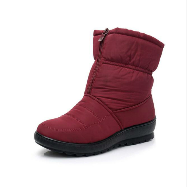 Promotion Women Boots Snow Boots Woman Ankle Platform Wedges Fashion Slip-on Waterproof Winter New Plus Velvet Warm Shoes Woman